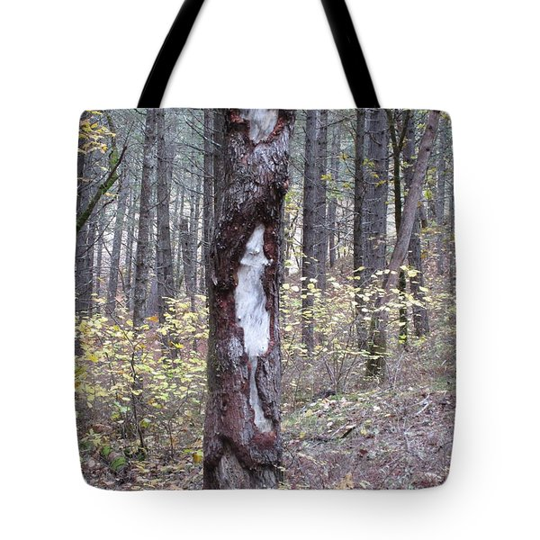 Tote Bag featuring the photograph The Mouse Ran Up The  by Marie Neder