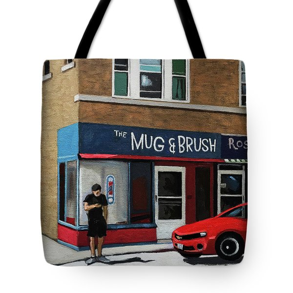 The Mug And Brush - Urban Painting Tote Bag