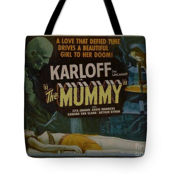 The Mummy 1929 Poster Boris Karloff Tote Bag