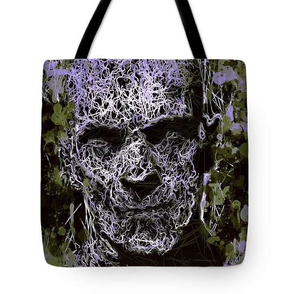 Tote Bag featuring the mixed media The Mummy by Al Matra