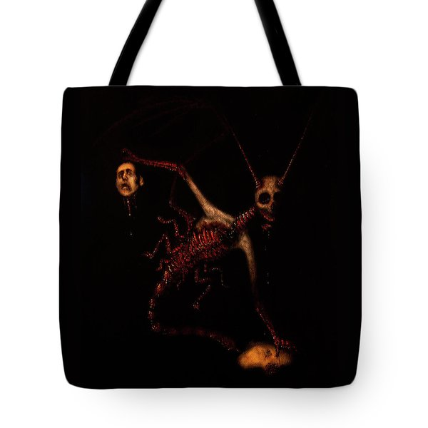 Tote Bag featuring the drawing The Murder Bug - Artwork by Ryan Nieves