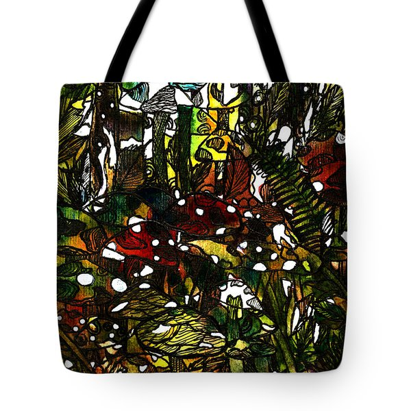 The Mushroom Village Tote Bag by Garima Srivastava