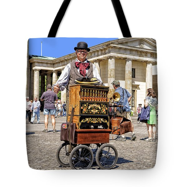 The Music Box Tote Bag by Uri Baruch
