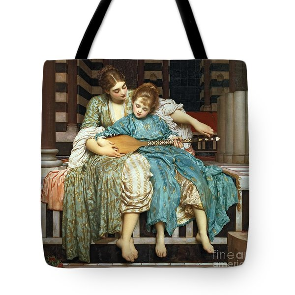 The Music Lesson Tote Bag by Frederic Leighton