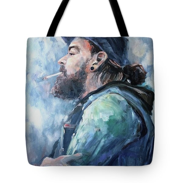 The Music Man Tote Bag by Diane Daigle