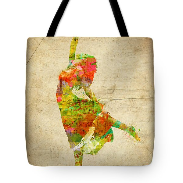 The Music Rushing Through Me Tote Bag by Nikki Smith