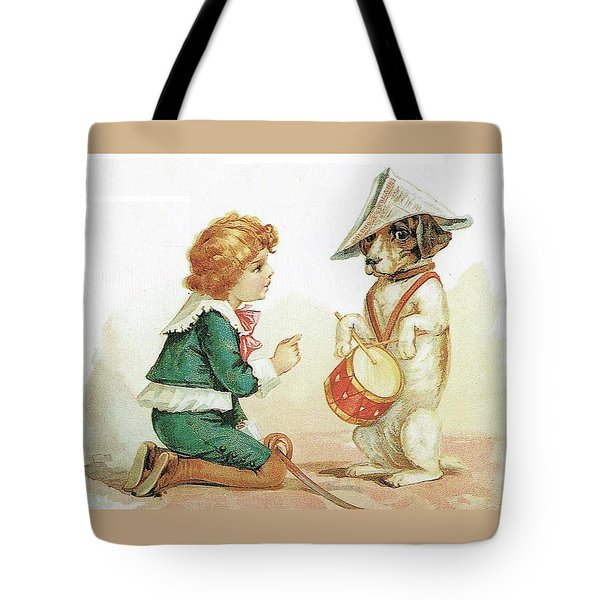 The Musical Pooch Tote Bag by Reynold Jay