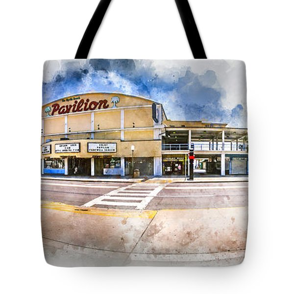 The Myrtle Beach Pavilion - Watercolor Tote Bag