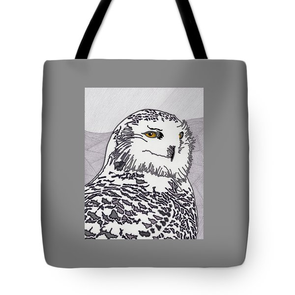 The Mysterious Snowy Tote Bag