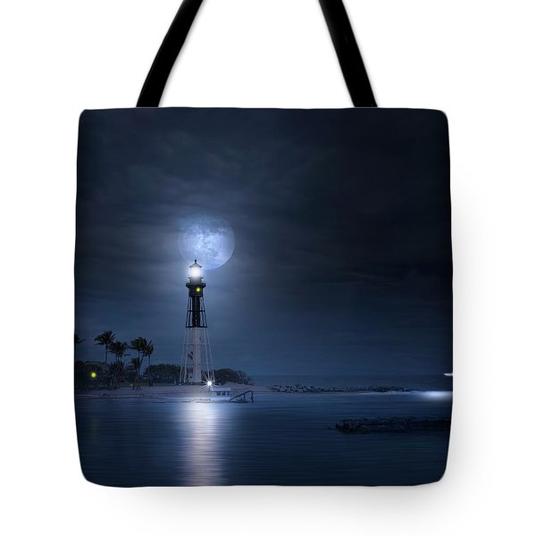 The Mystery Of Lighthouse Cove Tote Bag