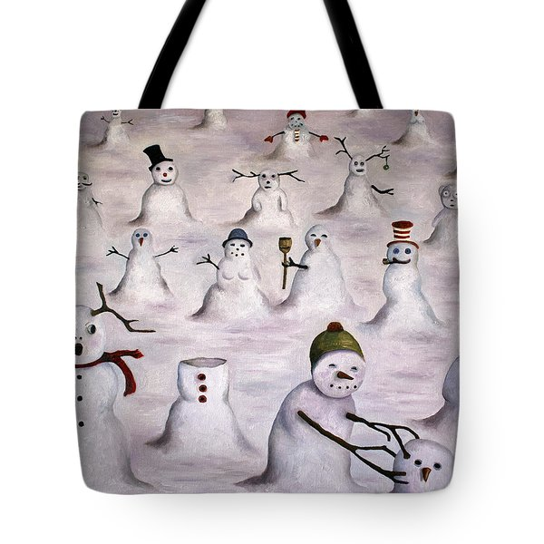 The Mystery Revealed On Snowman Hill Tote Bag