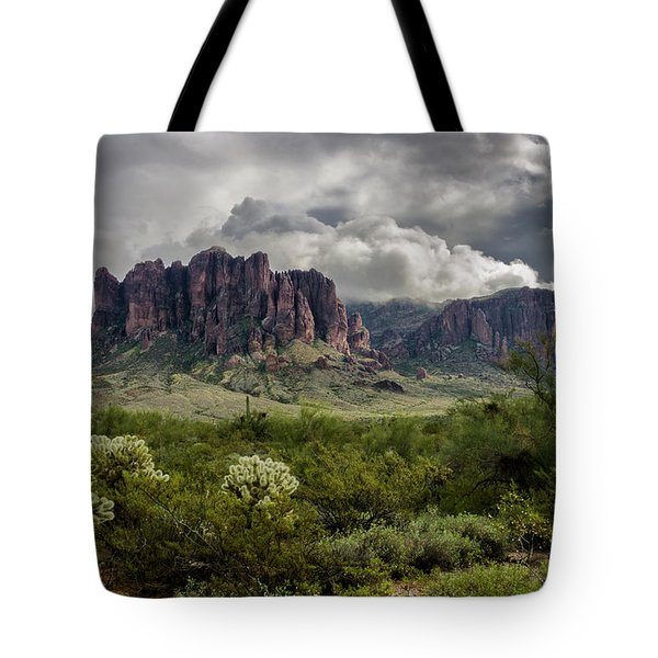The Mystic Mountain  Tote Bag