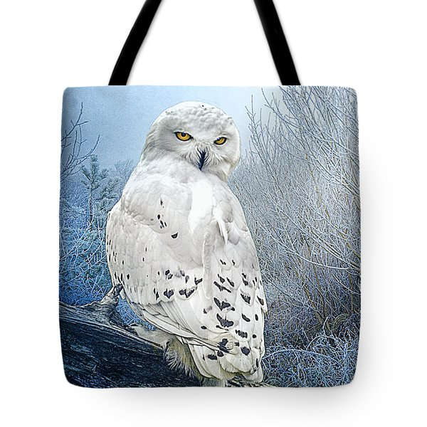 The Mystical Snowy Owl Tote Bag