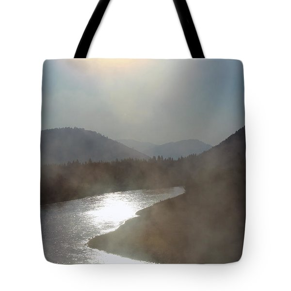 Tote Bag featuring the photograph The Myth Starts Here by Silke Brubaker