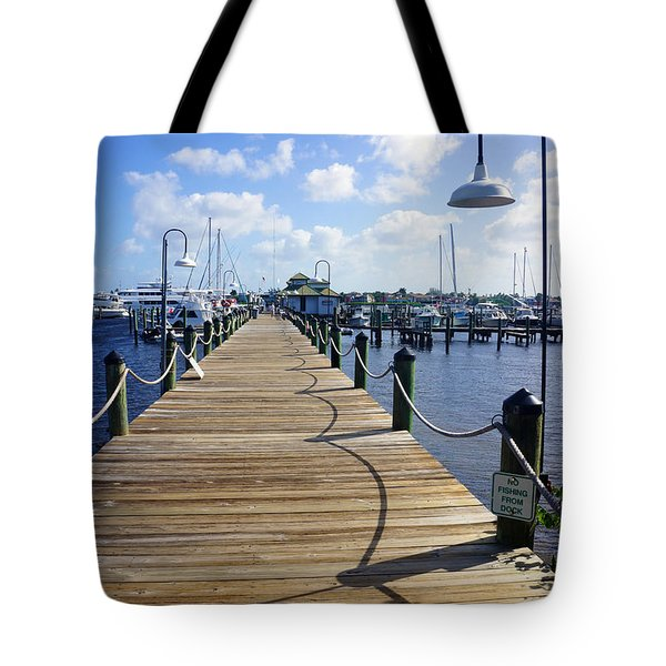 The Naples City Dock Tote Bag by Robb Stan