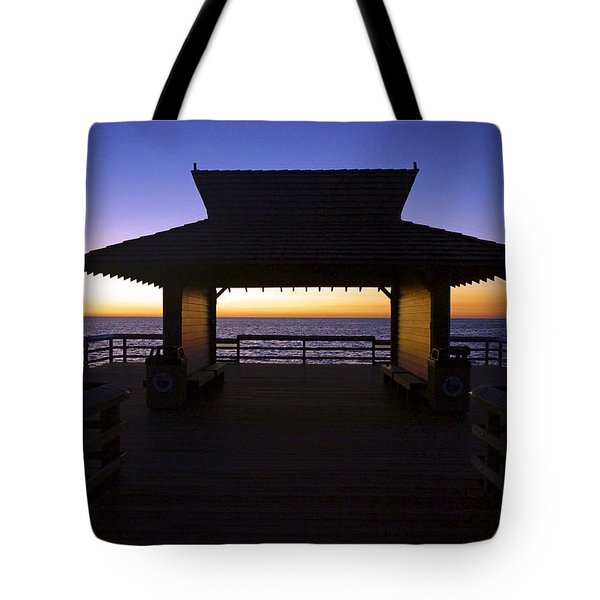 The Naples Pier At Twilight - 02 Tote Bag