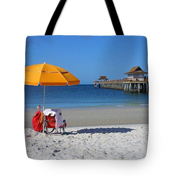 The Naples Pier Tote Bag