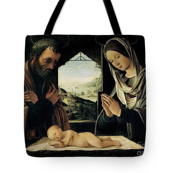 The Nativity Tote Bag by Lorenzo Costa