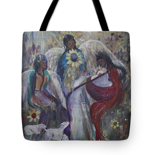 The Nativity Of The Angels Tote Bag by Avonelle Kelsey