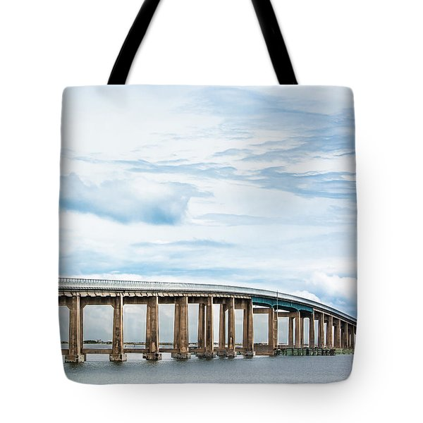 Tote Bag featuring the photograph The Navarre Bridge by Shelby Young