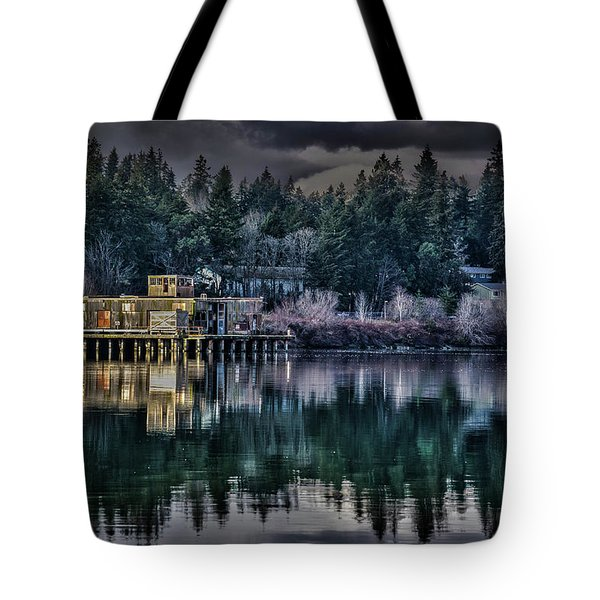 Tote Bag featuring the photograph The Navy Base P1 by Timothy Latta