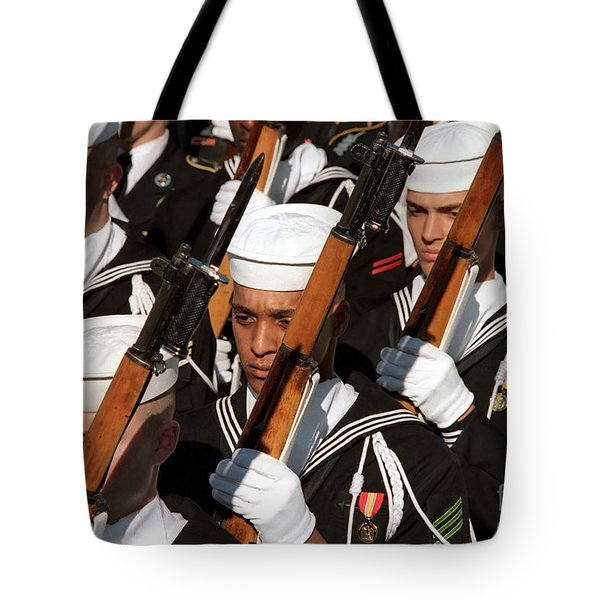 The Navy Ceremonial Honor Guard Tote Bag by Stocktrek Images