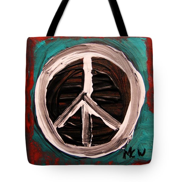 Tote Bag featuring the painting The Need Continues by Mary Carol Williams