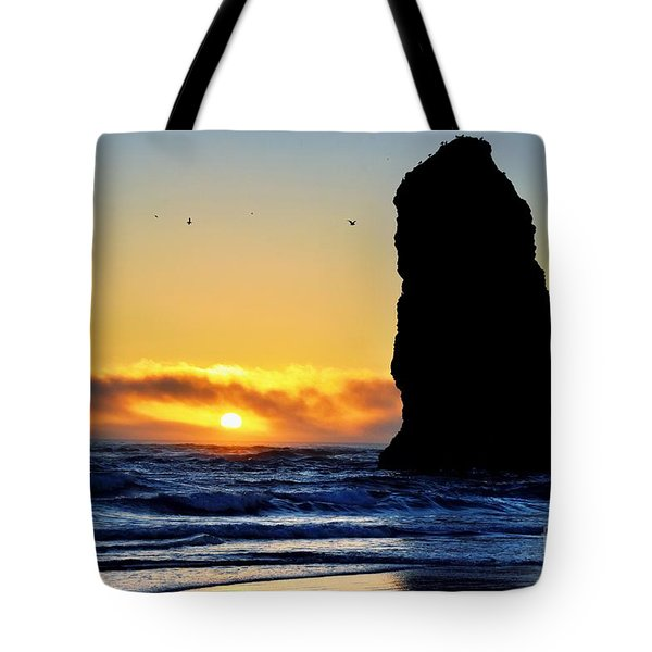 The Needles At Cannon Beach Tote Bag