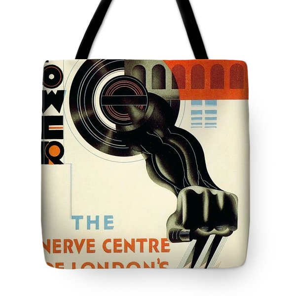 The Nerve Centre Of London's Underground - Retro Travel Poster - Vintage Poster Tote Bag