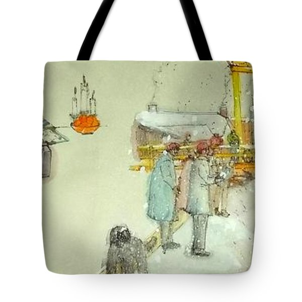 the Netherlands scroll Tote Bag by Debbi Saccomanno Chan