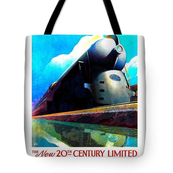 The New 20th Century Limited New York Central System 1939 Leslie Ragan Tote Bag by Peter Gumaer Ogden Collection