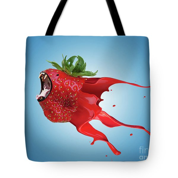 Tote Bag featuring the photograph The New Gmo Strawberry by Juli Scalzi