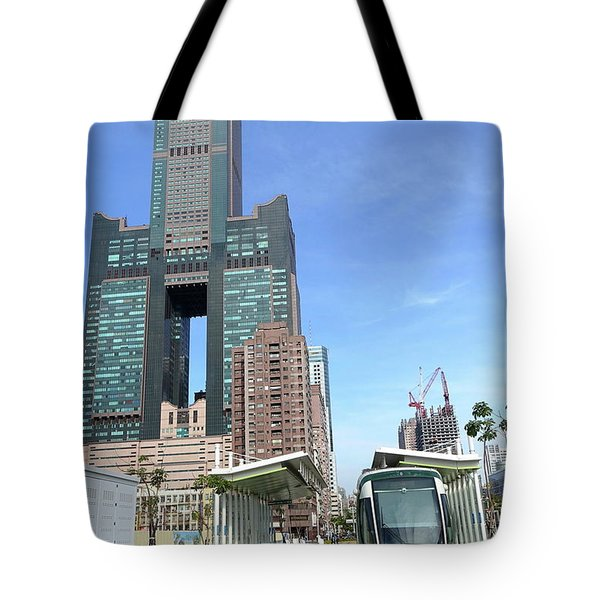 Tote Bag featuring the photograph The New Kaohsiung Light Rail Train by Yali Shi