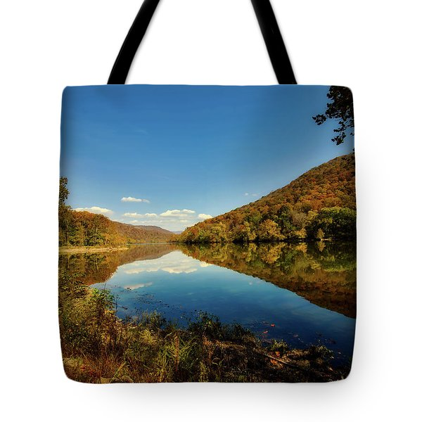 The New River In Autumn Tote Bag by L O C