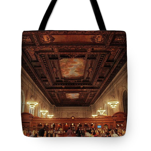 Tote Bag featuring the photograph The New York Public Library by Jessica Jenney