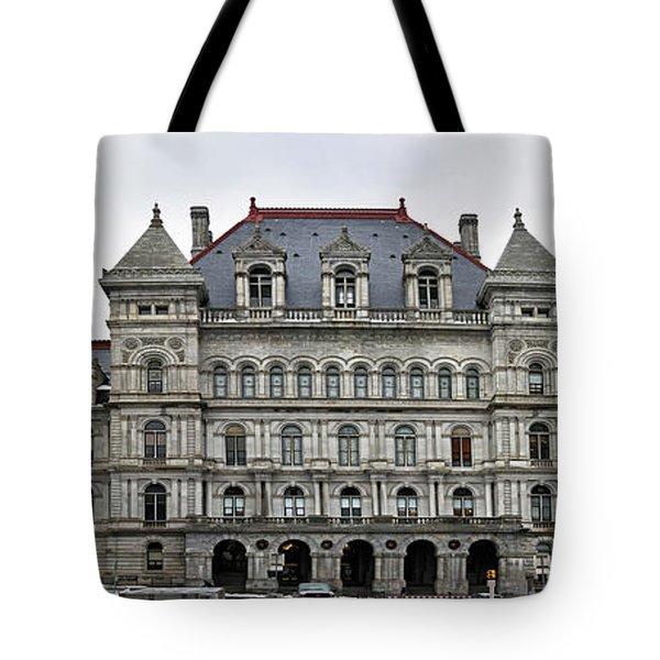 Tote Bag featuring the photograph The New York State Capitol In Albany New York by Brendan Reals