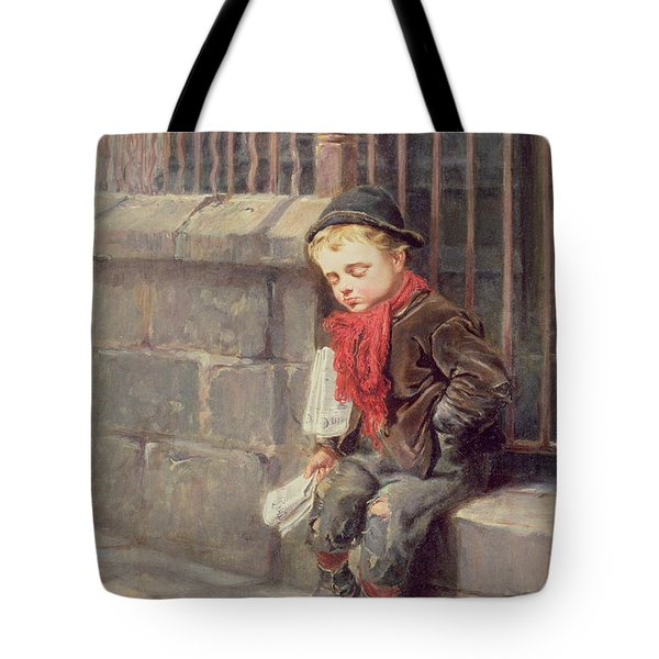The News Boy Tote Bag by Ralph Hedley