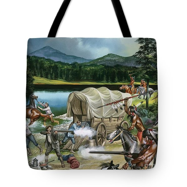 The Nez Perce Tote Bag by Ron Embleton