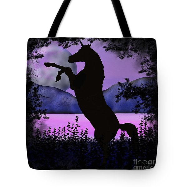 The Night Of The Unicorn Tote Bag