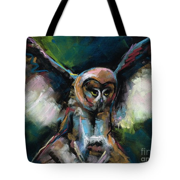 The Night Owl Tote Bag by Frances Marino