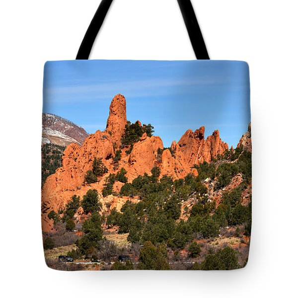 Tote Bag featuring the photograph The High Point View by Adam Jewell