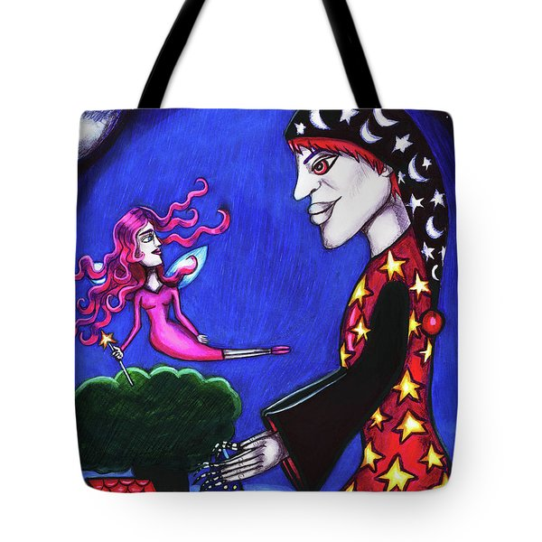 The Night Shift Sand Man Tooth Fairy Art Tote Bag