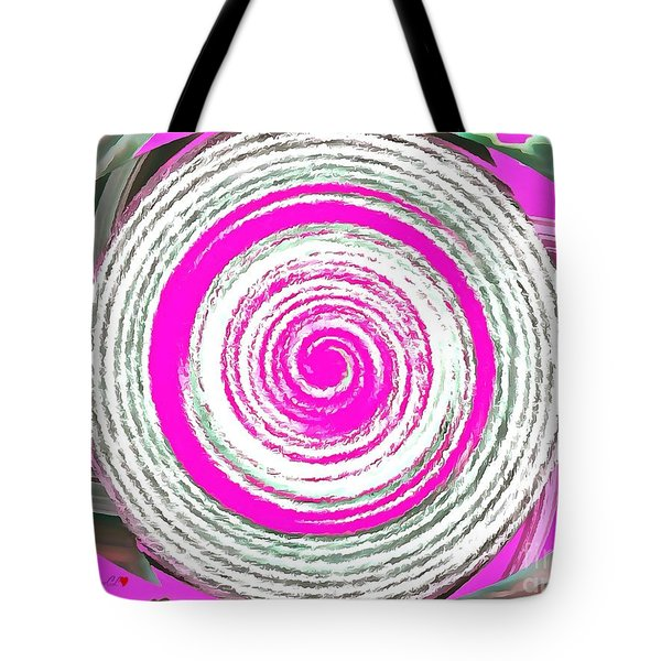 Tote Bag featuring the painting The Noise by Catherine Lott
