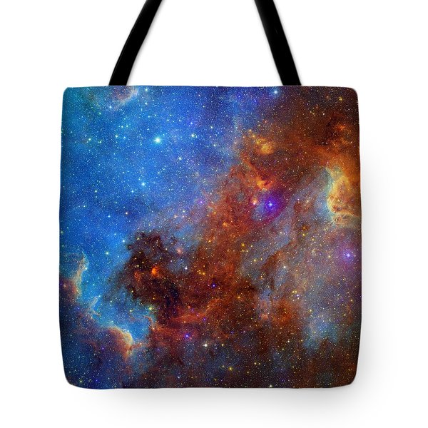 Tote Bag featuring the photograph The North America Nebula In Different Lights by NASA JPL - Caltech