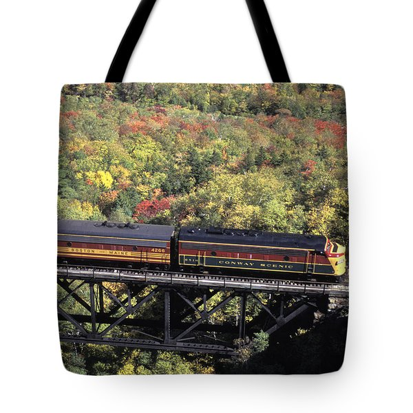The North Conway Scenic Railroad Tote Bag