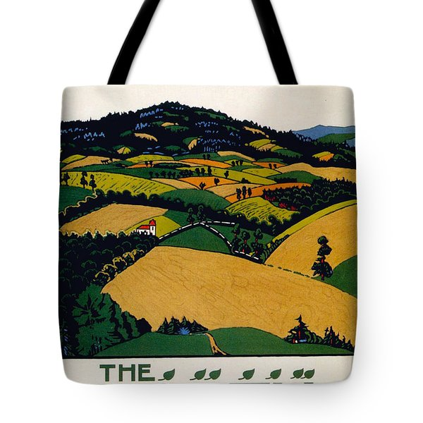 The North Downs - London Underground - London Metro - Retro Travel Poster - Vintage Poster Tote Bag