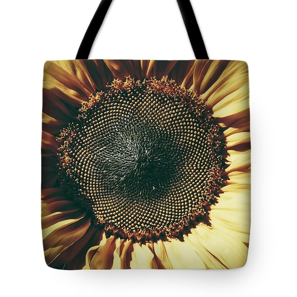 Tote Bag featuring the photograph The Not So Sunny Sunflower by Karen Stahlros