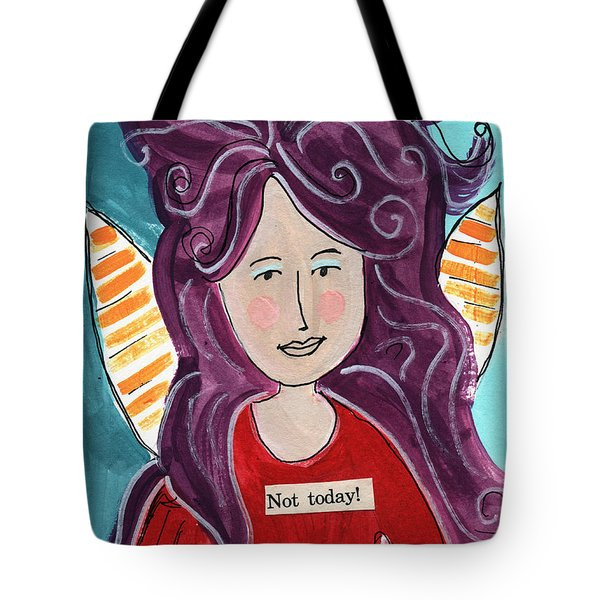 The Not Today Fairy- Art By Linda Woods Tote Bag