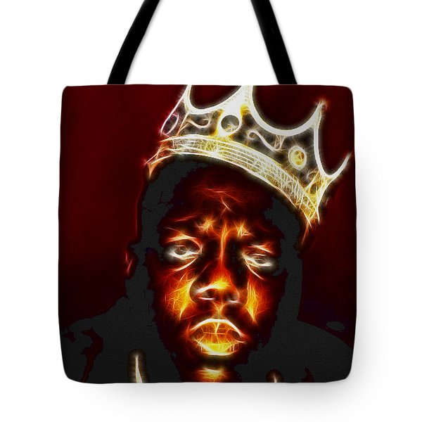 The Notorious B.i.g. - Biggie Smalls Tote Bag by Paul Ward