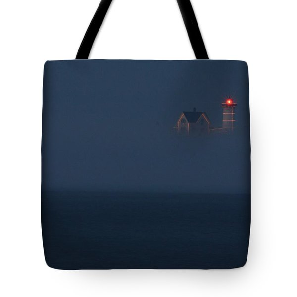 The Nubble At Night Tote Bag by Lori Deiter